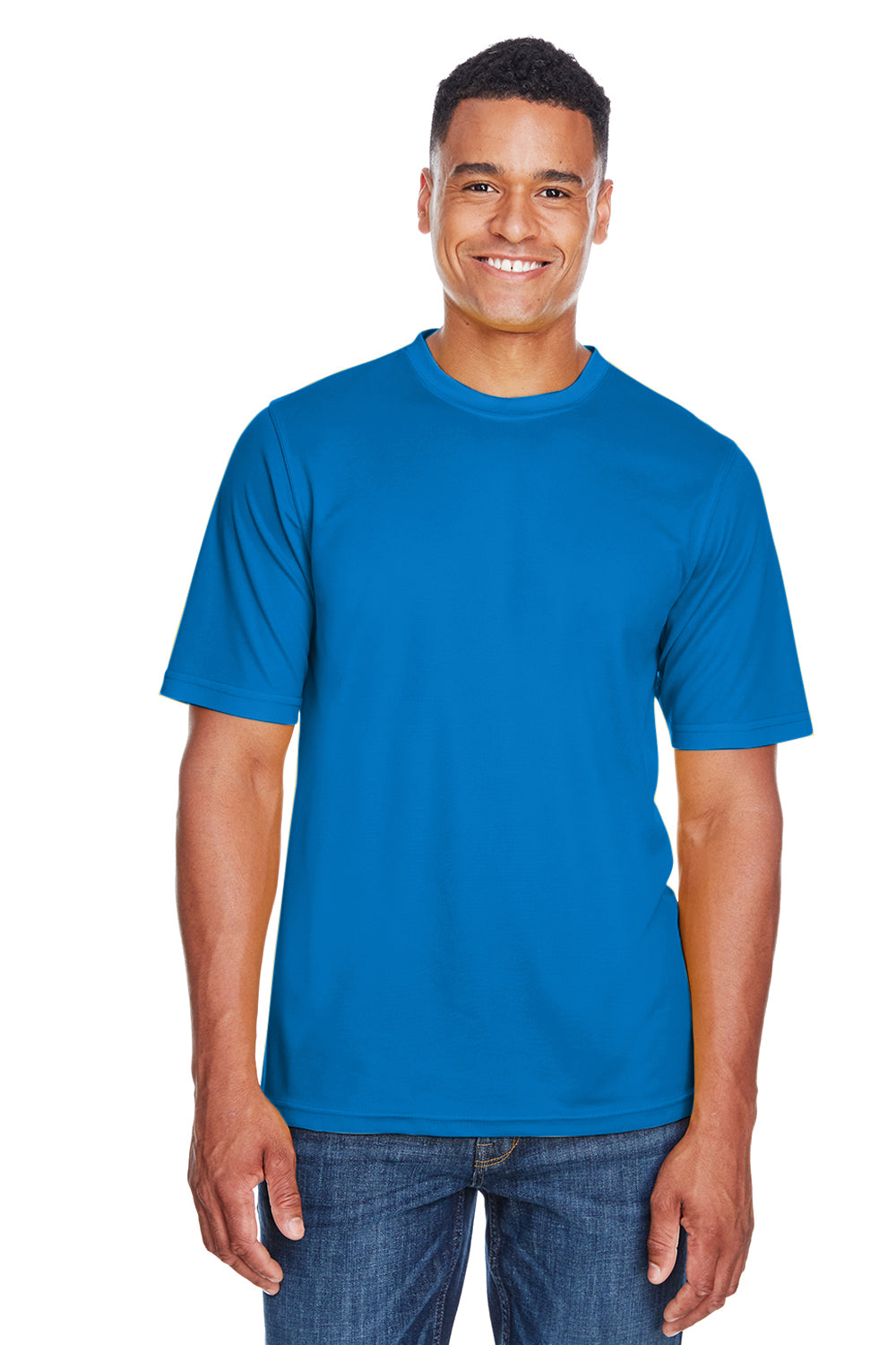 Core 365 88182 Mens Pace Performance Moisture Wicking Short Sleeve Crewneck T-Shirt Royal Blue Front