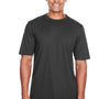 Core 365 Mens Pace Performance Moisture Wicking Short Sleeve Crewneck T-Shirt - Carbon Grey