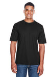 Core 365 88182 Mens Pace Performance Moisture Wicking Short Sleeve Crewneck T-Shirt Black Front