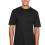 Core 365 Mens Pace Performance Moisture Wicking Short Sleeve Crewneck T-Shirt - Black