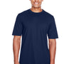 Core 365 Mens Pace Performance Moisture Wicking Short Sleeve Crewneck T-Shirt - Classic Navy Blue