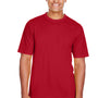 Core 365 Mens Pace Performance Moisture Wicking Short Sleeve Crewneck T-Shirt - Classic Red