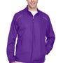 Core 365 Mens Motivate Water Resistant Full Zip Jacket - Campus Purple