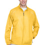 Core 365 Mens Motivate Water Resistant Full Zip Jacket - Campus Gold