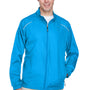 Core 365 Mens Motivate Water Resistant Full Zip Jacket - Electric Blue