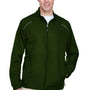 Core 365 Mens Motivate Water Resistant Full Zip Jacket - Forest Green