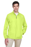 Core 365 88183 Mens Motivate Water Resistant Full Zip Jacket Safety Yellow Front