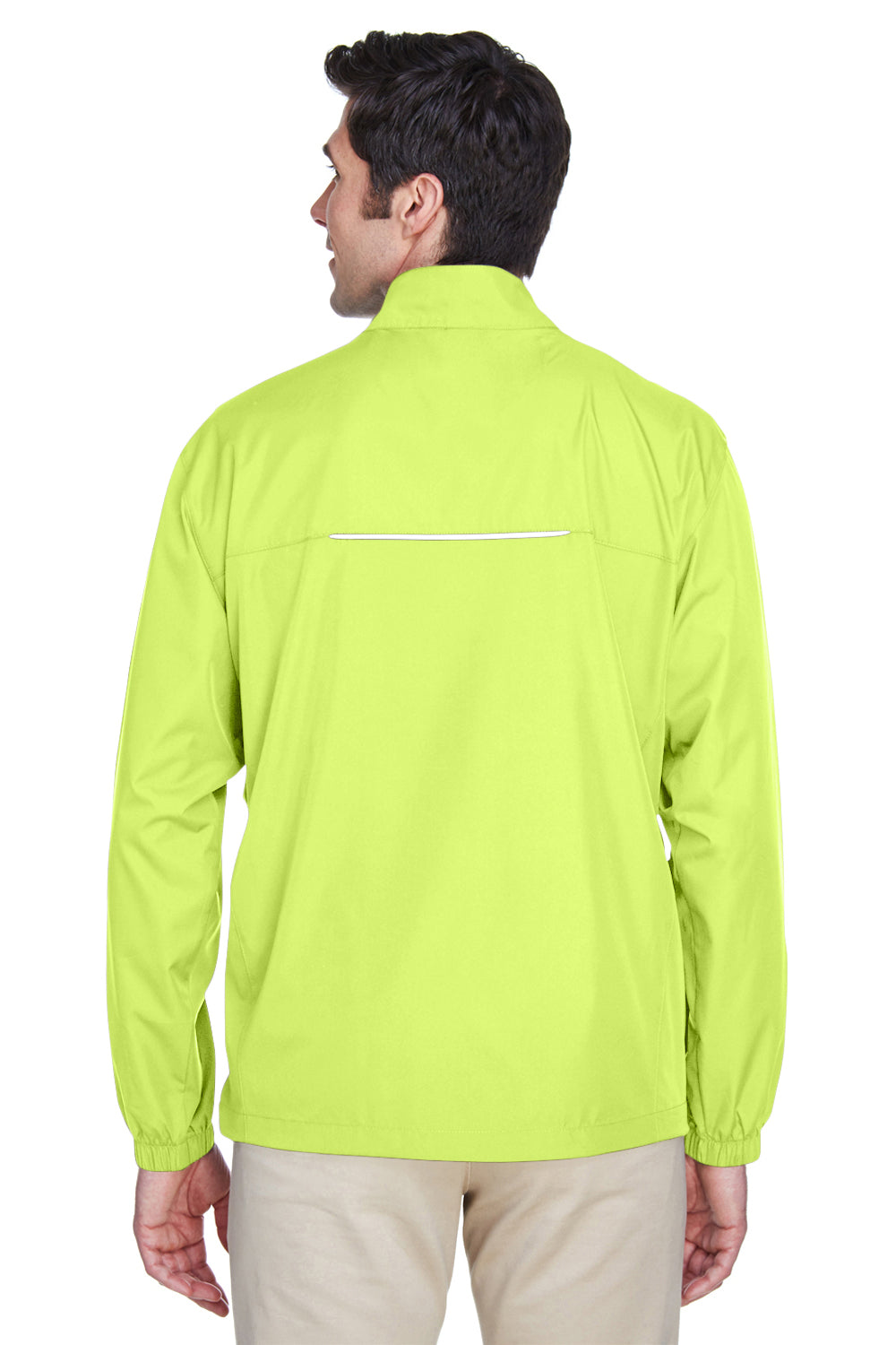Core 365 88183 Mens Motivate Water Resistant Full Zip Jacket Safety Yellow Back
