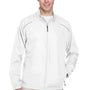 Core 365 Mens Motivate Water Resistant Full Zip Jacket - White