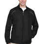 Core 365 Mens Motivate Water Resistant Full Zip Jacket - Black