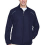 Core 365 Mens Motivate Water Resistant Full Zip Jacket - Classic Navy Blue