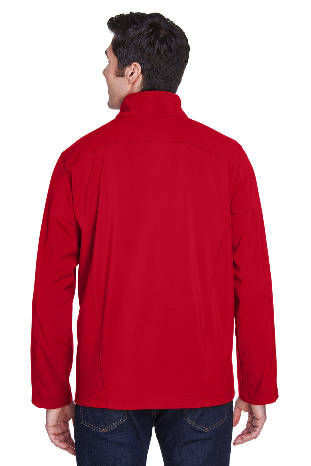 Core 365 88184 Mens Cruise Water Resistant Full Zip Jacket Red Back