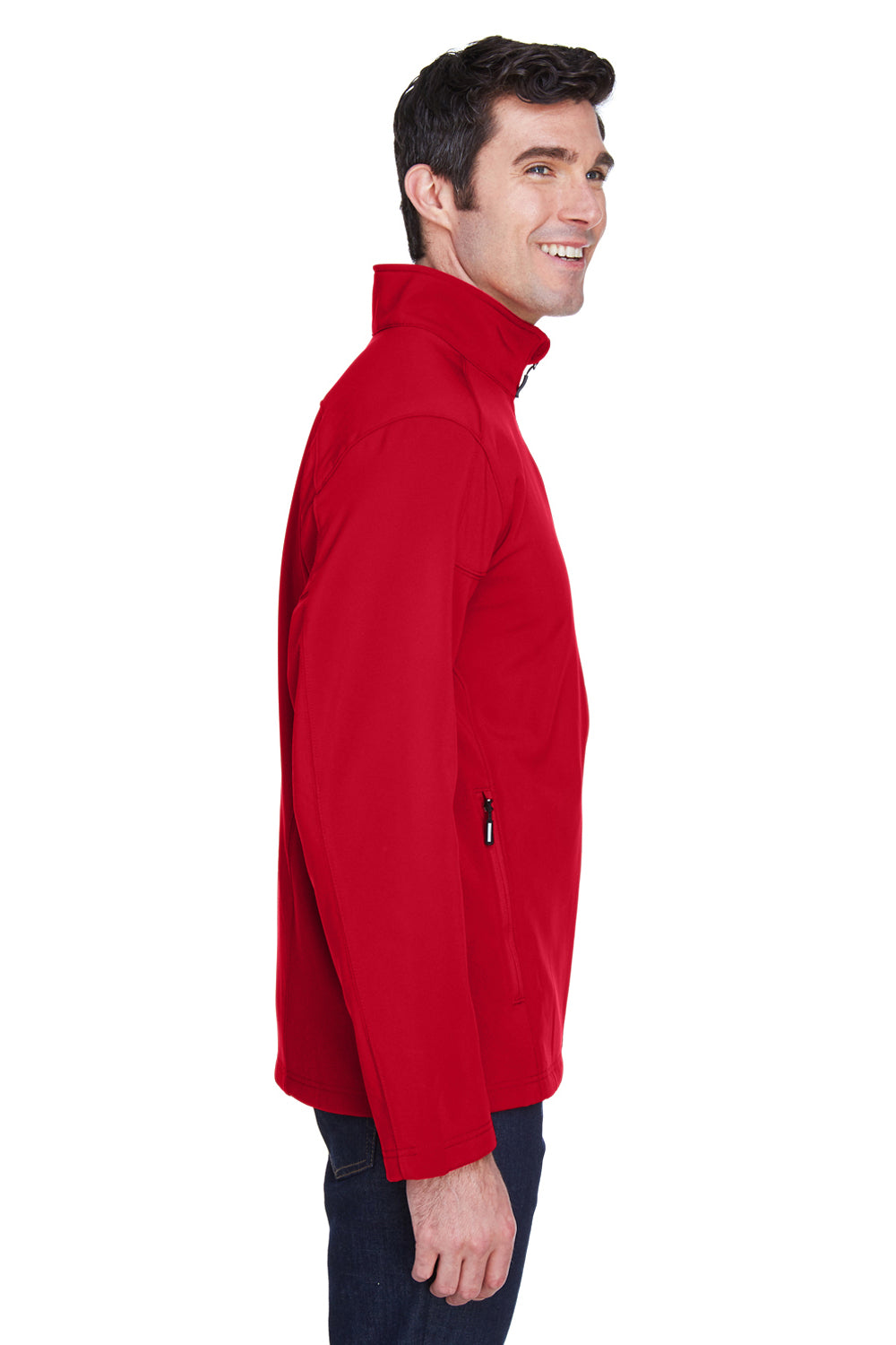 Core 365 88184 Mens Cruise Water Resistant Full Zip Jacket Red Side