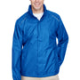 Core 365 Mens Climate Waterproof Full Zip Hooded Jacket - True Royal Blue