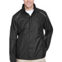 Core 365 Mens Climate Waterproof Full Zip Hooded Jacket - Black