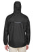 Core 365 88185 Mens Climate Waterproof Full Zip Hooded Jacket Black Back