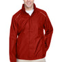 Core 365 Mens Climate Waterproof Full Zip Hooded Jacket - Classic Red