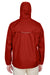 Core 365 88185 Mens Climate Waterproof Full Zip Hooded Jacket Red Back