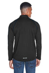 North End 88187 Mens Radar Performance Moisture Wicking 1/4 Zip Sweatshirt Black/Royal Blue Back