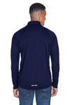 North End 88187 Mens Radar Performance Moisture Wicking 1/4 Zip Sweatshirt Navy Blue Back