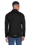 North End 88187 Mens Radar Performance Moisture Wicking 1/4 Zip Sweatshirt Black/Red Back