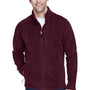 Core 365 Mens Journey Full Zip Fleece Jacket - Burgundy
