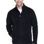 Core 365 Mens Journey Full Zip Fleece Jacket - Black
