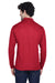 Core 365 88192 Mens Pinnacle Performance Moisture Wicking Long Sleeve Polo Shirt Red Back