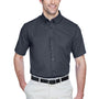 Core 365 Mens Optimum Short Sleeve Button Down Shirt w/ Pocket - Carbon Grey
