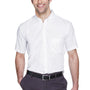 Core 365 Mens Optimum Short Sleeve Button Down Shirt w/ Pocket - White