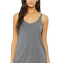 Bella + Canvas Womens Slouchy Tank Top - Grey Triblend