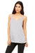 Bella + Canvas 8838 Womens Slouchy Tank Top Heather Grey Front
