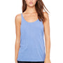 Bella + Canvas Womens Slouchy Tank Top - Blue Triblend