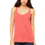 Bella + Canvas Womens Slouchy Tank Top - Red Triblend