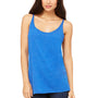 Bella + Canvas Womens Slouchy Tank Top - True Royal Blue Triblend