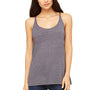 Bella + Canvas Womens Slouchy Tank Top - Asphalt Grey Slub