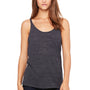 Bella + Canvas Womens Slouchy Tank Top - Charcoal Black Slub