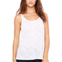 Bella + Canvas Womens Slouchy Tank Top - White Slub
