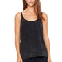 Bella + Canvas Womens Slouchy Tank Top - Black Mineral Wash