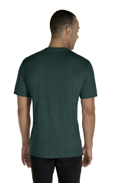 Jerzees 88MR Mens Vintage Snow Short Sleeve Crewneck T-Shirt Heather Forest Green Back
