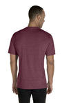 Jerzees 88MR Mens Vintage Snow Short Sleeve Crewneck T-Shirt Heather Maroon Back