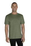 Jerzees 88MR Mens Vintage Snow Short Sleeve Crewneck T-Shirt Heather Military Green Front