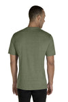 Jerzees 88MR Mens Vintage Snow Short Sleeve Crewneck T-Shirt Heather Military Green Back