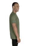Jerzees 88MR Mens Vintage Snow Short Sleeve Crewneck T-Shirt Heather Military Green Side
