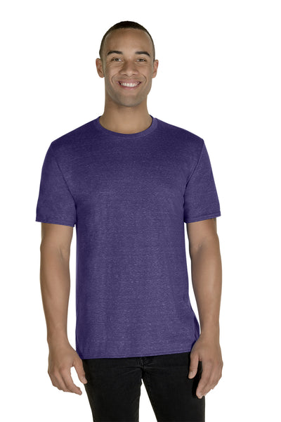 Jerzees 88MR Mens Vintage Snow Short Sleeve Crewneck T-Shirt Heather Purple Front