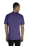 Jerzees 88MR Mens Vintage Snow Short Sleeve Crewneck T-Shirt Heather Purple Back