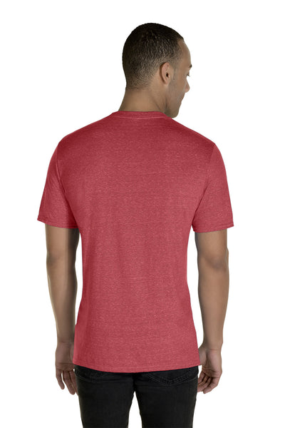 Jerzees 88MR Mens Vintage Snow Short Sleeve Crewneck T-Shirt Heather Red Back