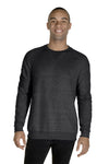 Jerzees 91MR Mens Vintage Snow French Terry Crewneck Sweatshirt Heather Black Front