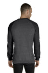 Jerzees 91MR Mens Vintage Snow French Terry Crewneck Sweatshirt Heather Charcoal Grey/Black Back