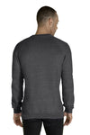 Jerzees 91MR Mens Vintage Snow French Terry Crewneck Sweatshirt Heather Charcoal Grey Back